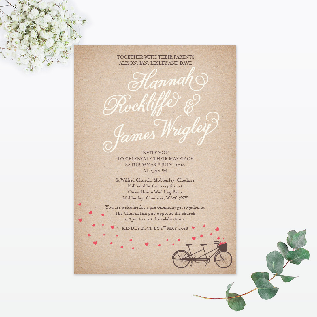 Hearts and Bicycles Samples - Love Invited - Luxury Wedding ...