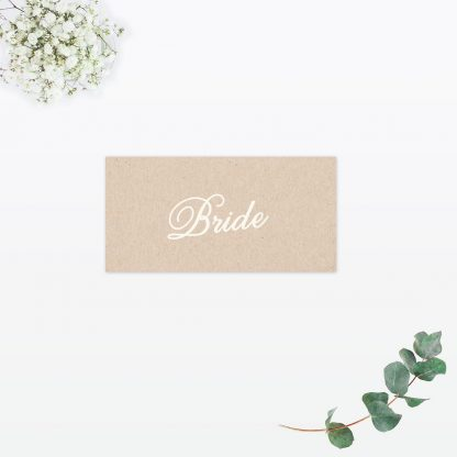 Hearts & Bicycles Place Card - Wedding Stationery