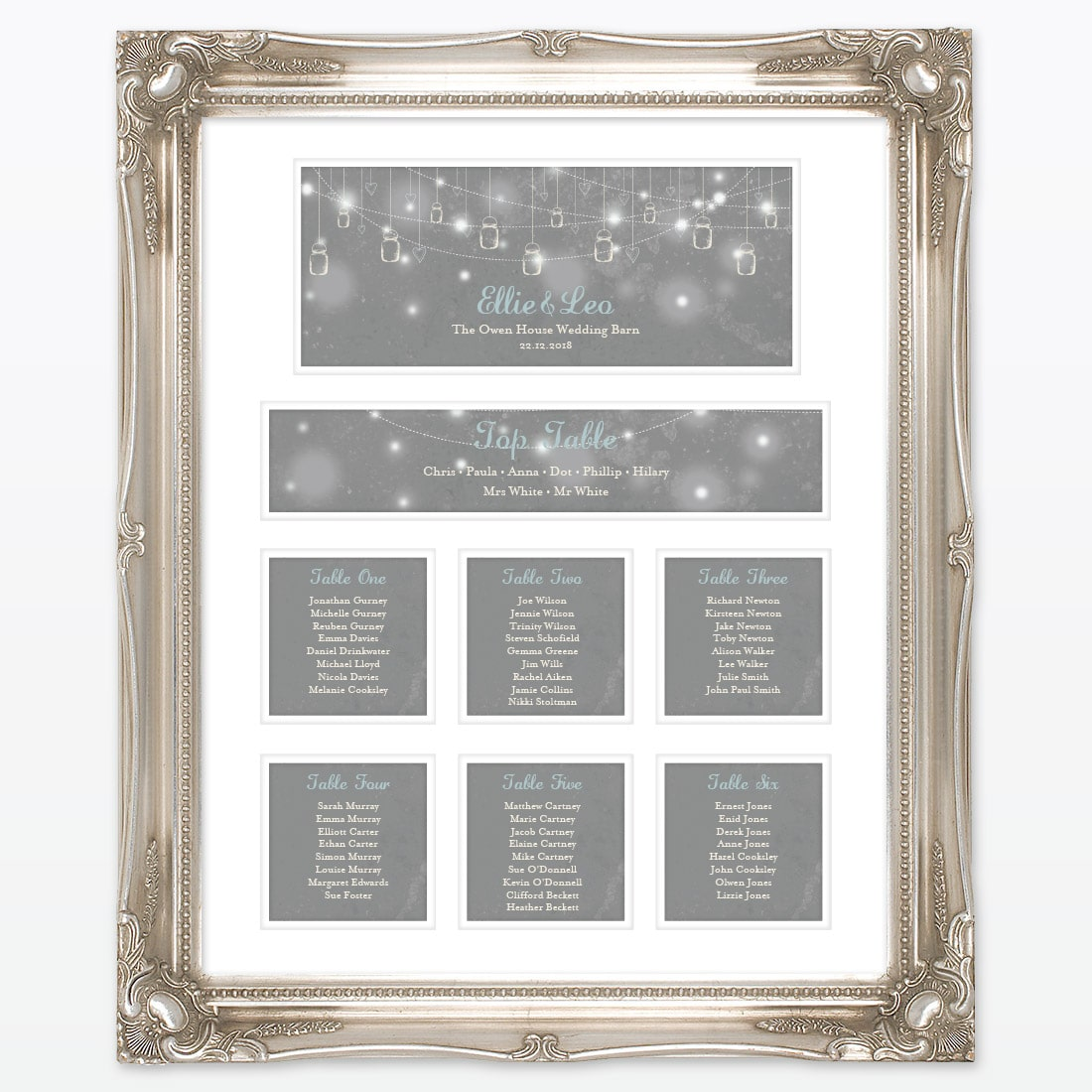 Hearts and Lanterns Table Plan | Love Invited Wedding Stationery