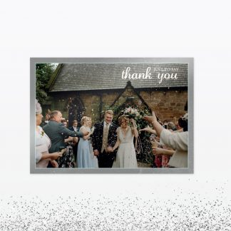 Hearts and Lanterns Thank you card - Wedding Stationery