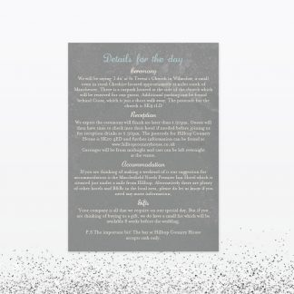 Hearts and Lanterns Additional Information - Wedding Stationery
