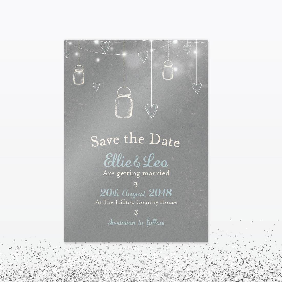 Wedding Save The Dates.Hearts And Lanterns Save The Date
