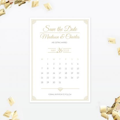 Hollywood Glamour Save the Date - Wedding Stationery