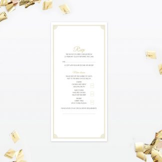 Hollywood Glamour RSVP - Wedding Stationery