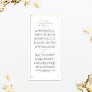 Hollywood Glamour Additional Information - Wedding Stationery