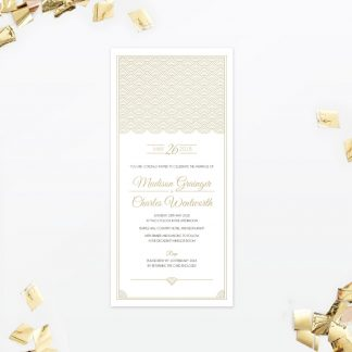Hollywood Glamour Sample - Wedding Stationery