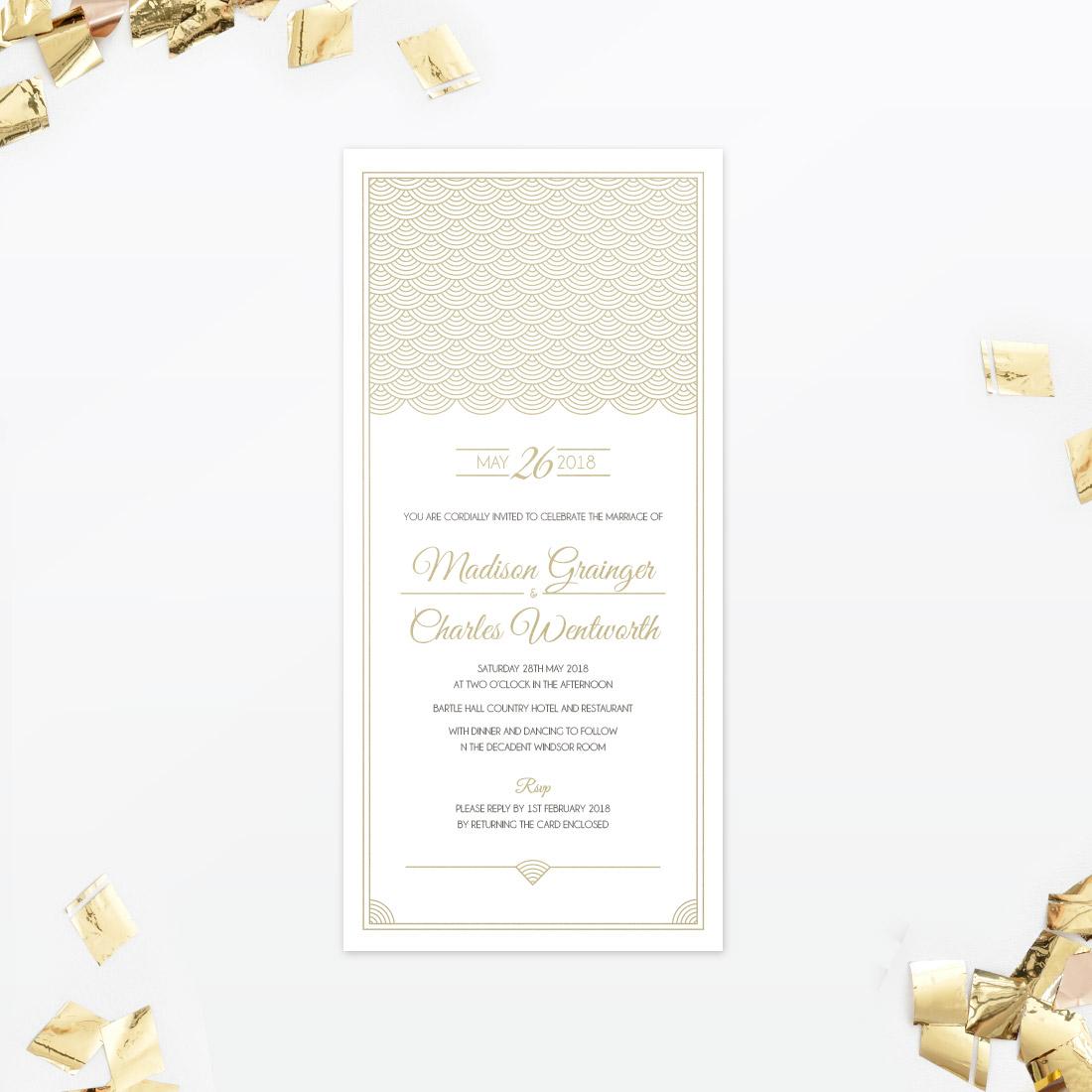 Hollywood Glamour Wedding Invitation