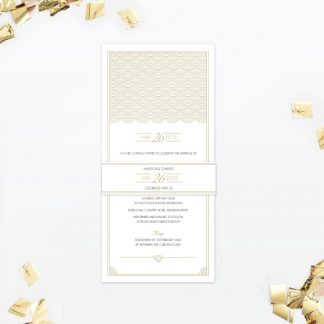 Hollywood Glamour Evening Wedding Invitation - Wedding Stationery