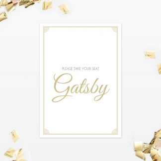 Hollywood Glamour Table Number - Wedding Stationery