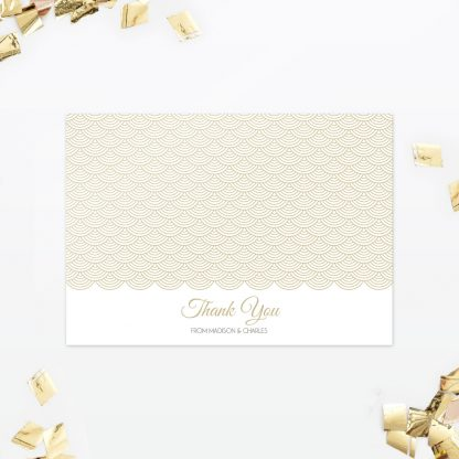 Hollywood Glamour Thank You Card - Wedding Stationery