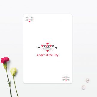 Viva Las Vegas Order of the Day - Wedding Stationery