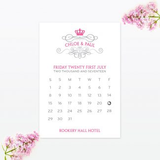 Royal Elegance Save the Date - Wedding Stationery
