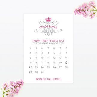 Royal Elegance Save the Date - Wedding Stationery