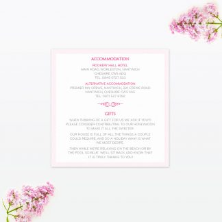 Royal Elegance Additional Information - Wedding Stationery