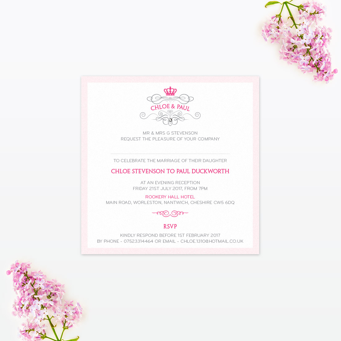 Royal Elegance Wedding Invitation - Love Invited - Luxury Wedding ...