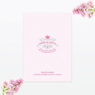 Royal Elegance Order of Service - Wedding Stationery