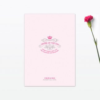 Royal Elegance Order of the Day - Wedding Stationery