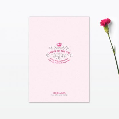 Royal Elegance Order of the Day - Wedding Stationery