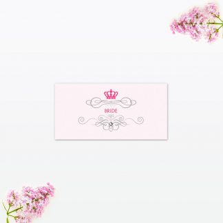 Royal Elegance Place Card - Wedding Stationery