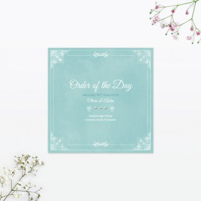 Vintage Chic Order of the Day - Wedding Stationery