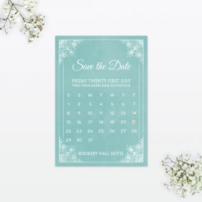Vintage Chic Save the Date - Wedding Stationery