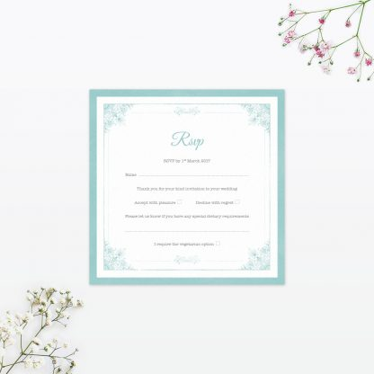 Vintage Chic RSVP - Wedding Stationery
