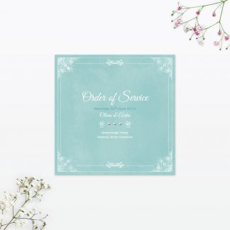 Vintage Chic Order of Service - Wedding Stationery