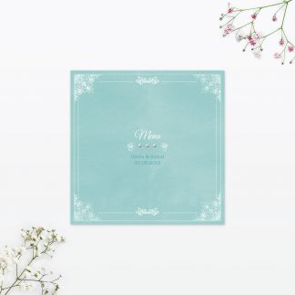 Vintage Chic Table Menu - Wedding Stationery