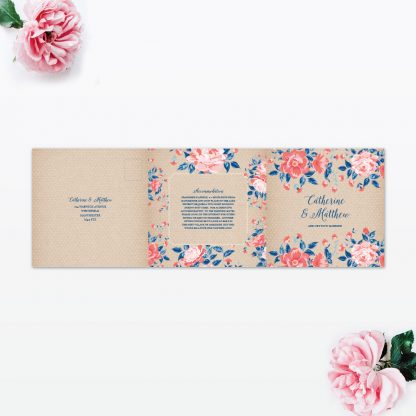 Vintage Floral Wedding Invitation - Wedding Stationery