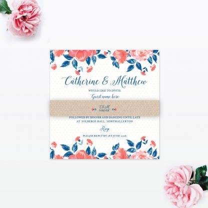 Vintage Floral Wedding Stationery