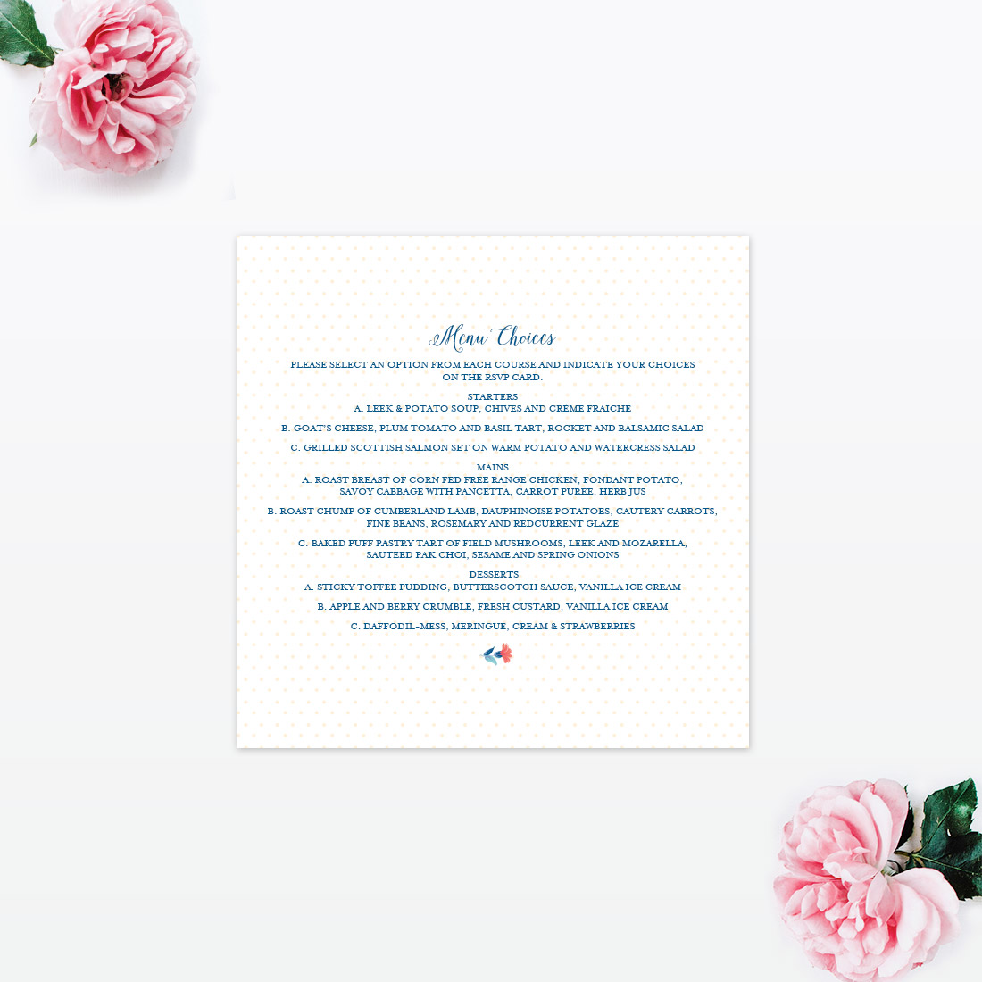 Vintage Floral Invitation Menu Love Invited Luxury