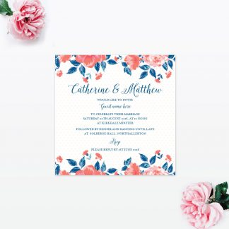 Vintage Floral Sample - Wedding Stationery