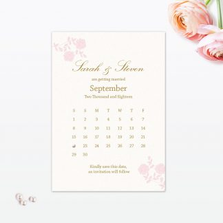 Vintage Rose Save the Date - Wedding Stationery