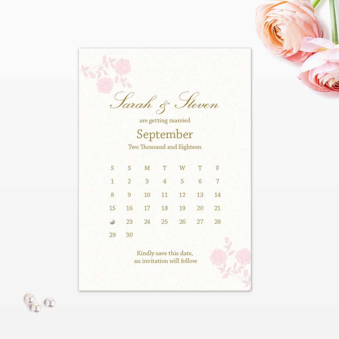 Vintage Rose Save the Date - Love Invited - Luxury Wedding ...