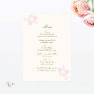 Vintage Chic Invitation Menu - Wedding Stationery