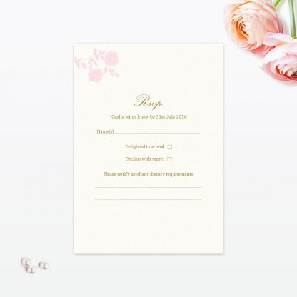 Vintage Rose RSVP - Wedding Stationery