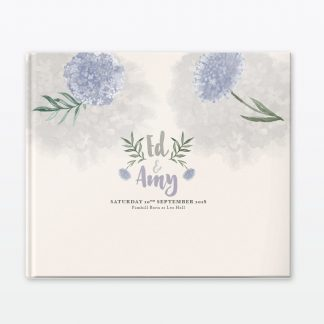 Watercolour Flora Photo Book - Wedding Stationery
