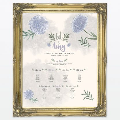 Watercolour Flora Table Plan - Wedding Stationery
