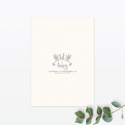 Watercolour Flora Additional Information - Wedding Stationery