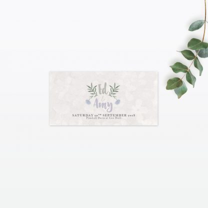 Watercolour Flora Place cards - Wedding Stationery