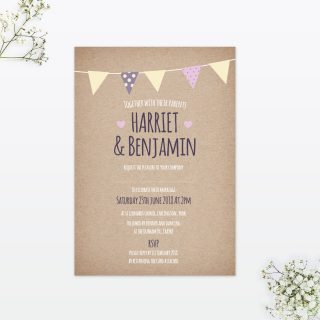 Country Bunting Wedding Stationery Collection