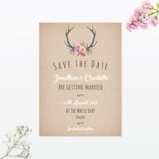 Country Rustic Save The Date Card | Love Invited