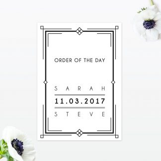 Art-Deco-Wedding-Order-of-the-Day