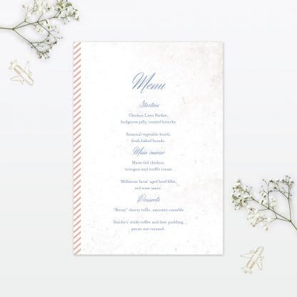 Wedding Table Menu Destination Love Invited