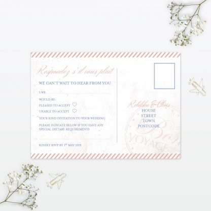 Wedding Postcard RSVP Destination Love Invited