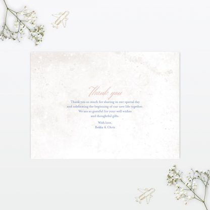 Wedding Thank You Card Destination Love Invited
