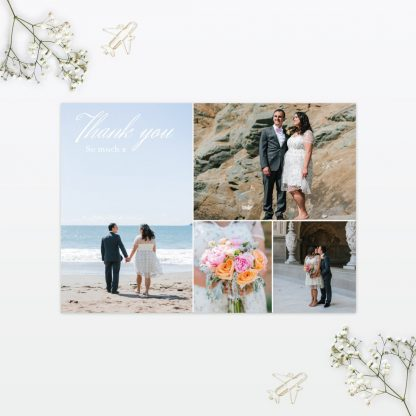 Destination Thank you card - Wedding Stationery