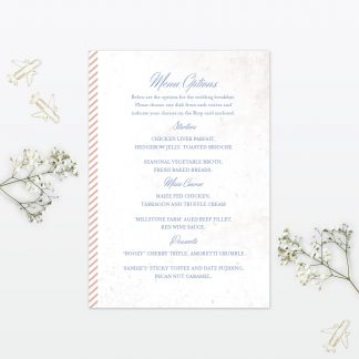 Wedding Invitation Menu Destination Love Invited