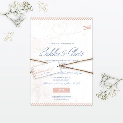 Destination Wedding Invitation - Wedding Stationery