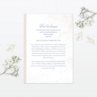 Destination Additional Information - Wedding Stationery